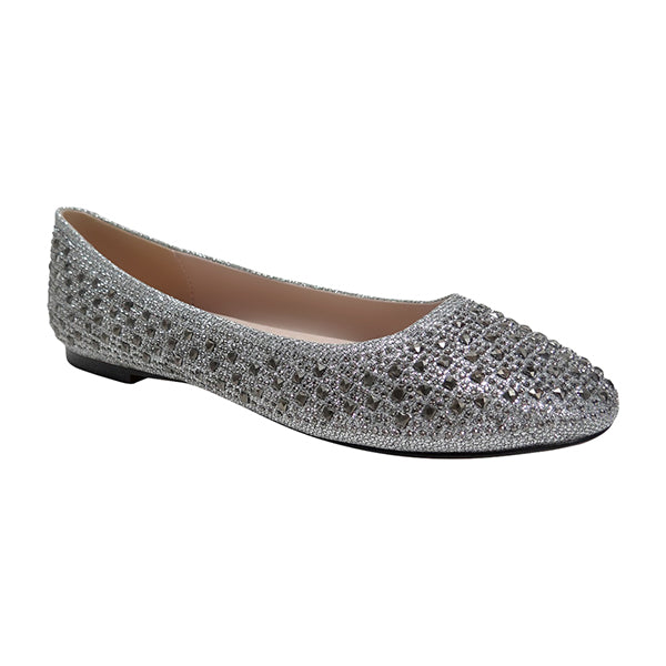 De Blossom Baba-1 Pewter Sparkle Flat