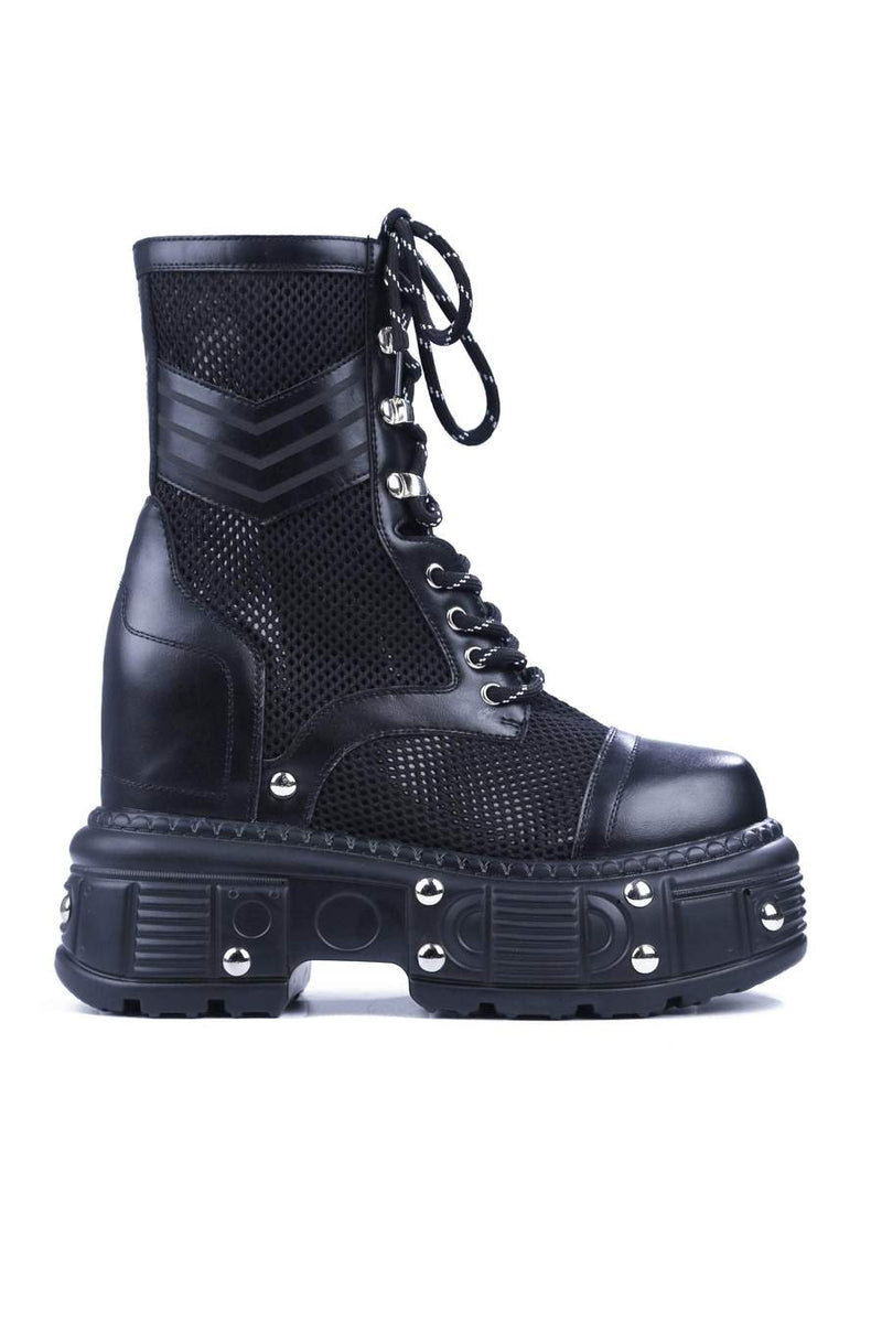 Cape Robbin Belgrade Black Platform Lace up Combat boot