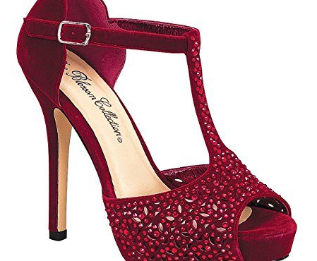 De Blossom Carrey-31 Red Velvet High Platform Heel