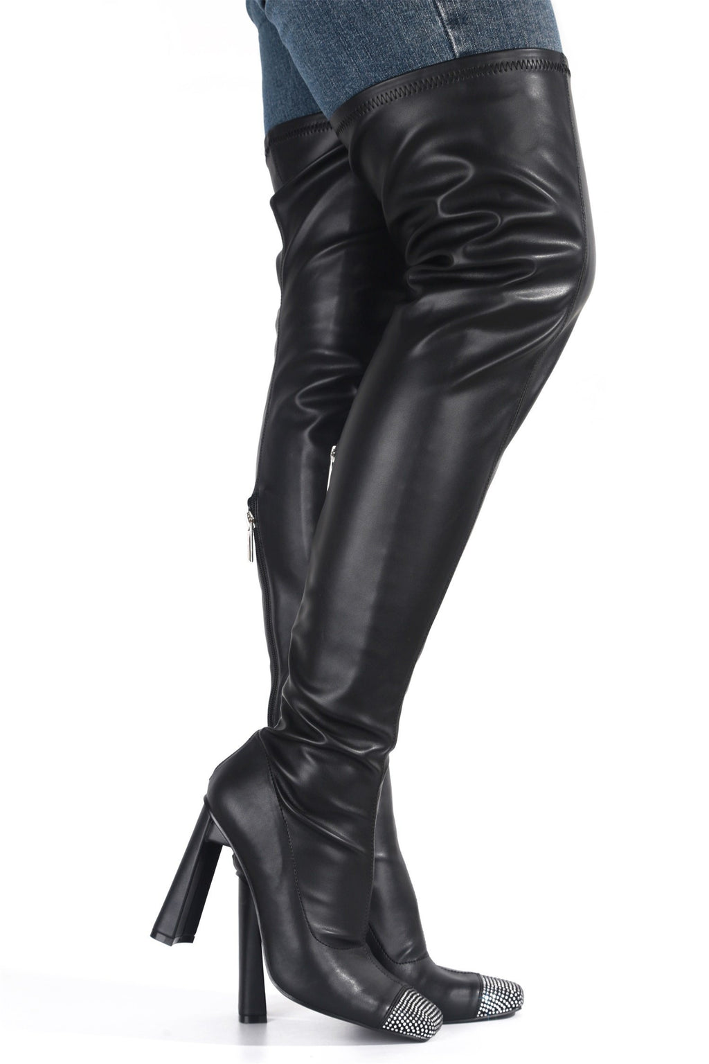 Cape Robbin Ringpop Black Over The Knee Boots
