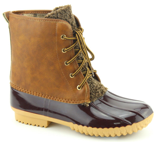 Nature Breeze Dudley-07 Tan Lace-up DuckBoots