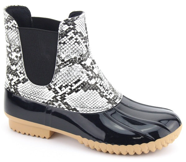 Nature Breeze Dudley-08 Black Snake Slip on Duck Boot