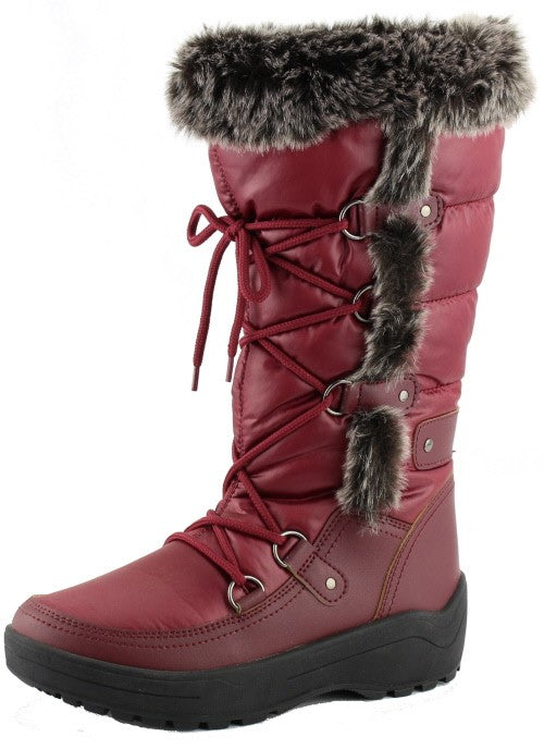 Nature Breeze Frost-01 Wine Snow Boots.
