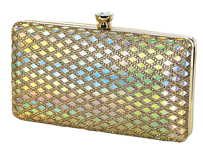 HB-Carina-56 Evening Clutch- Gold