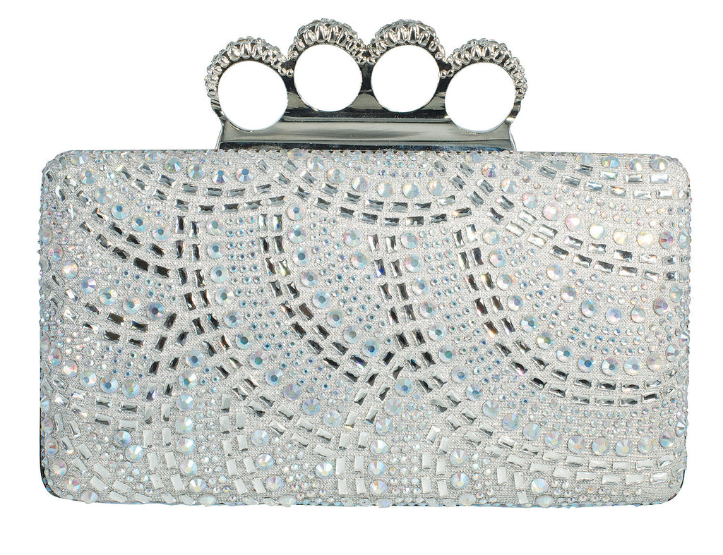 HB-CARINA-79 Evening Handbag - Silver