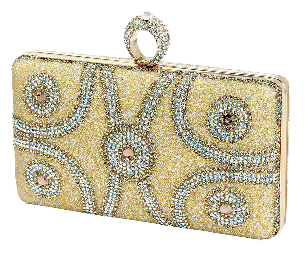 HB-ETERNITY-102 Evening Clutch - Nude