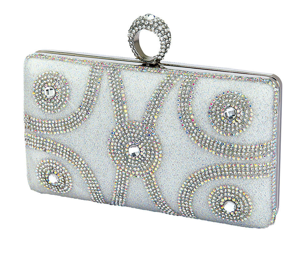 HB-ETERNITY-102 Evening Clutch - Silver