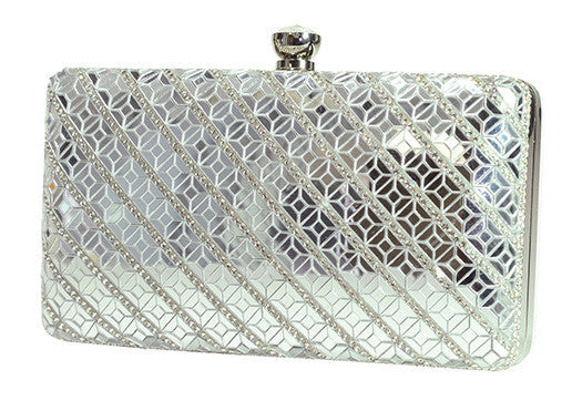 HB-ETERNITY-118 Holographic Handbag - Silver