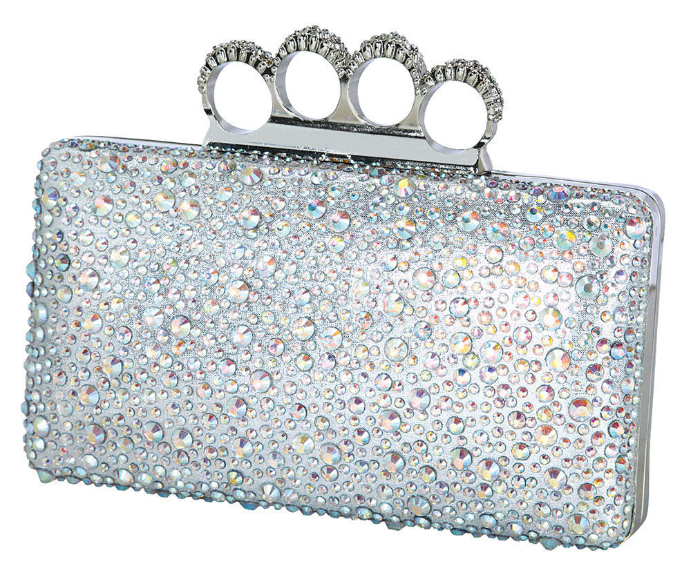 HB-KINKO-135 Evening Handbag - Silver
