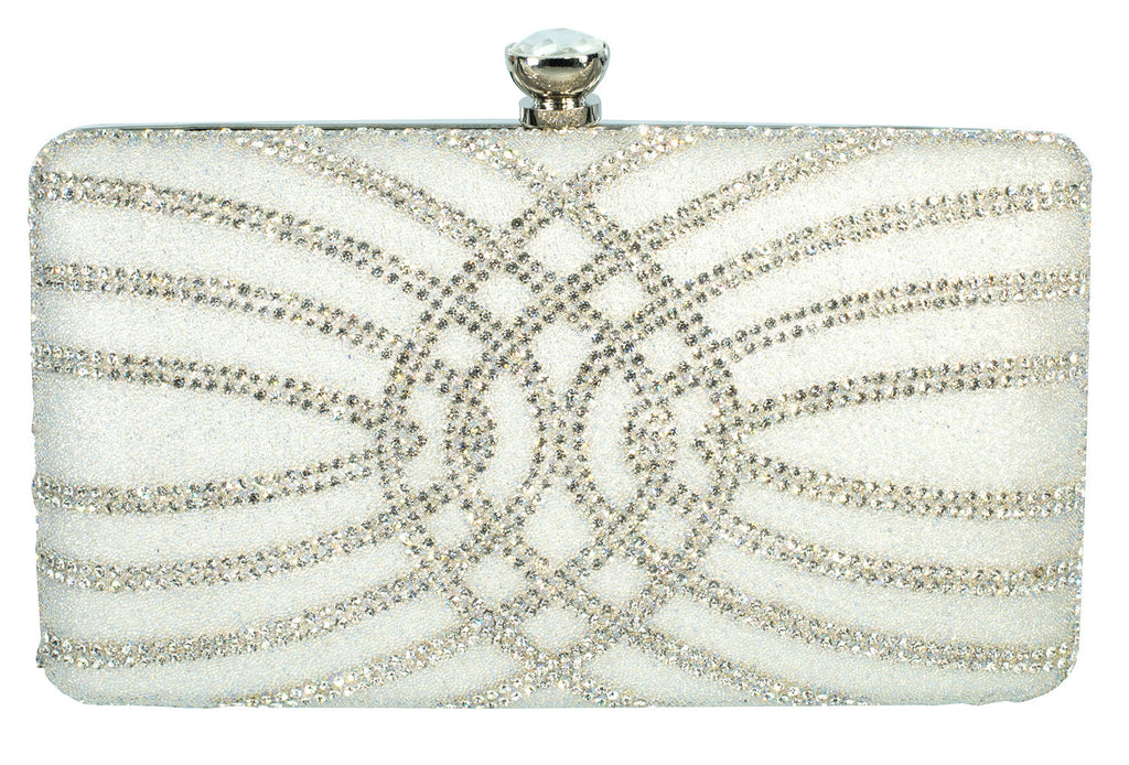 HB-ROSA-1 Evening Handbag - White