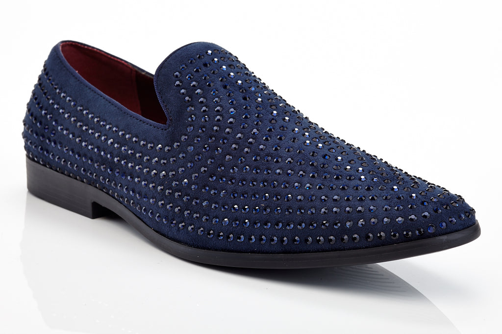 Henry Ferrera Jacomo Navy Men Studded Dress Shoe