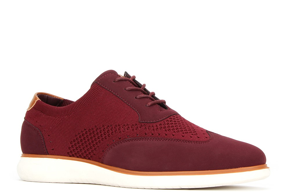Jaxson Jx-C1909 Burgundy Men's Lace Up Sneaker