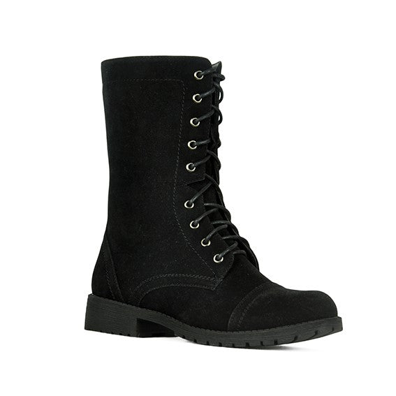 Refresh Libby-12 Classic Black Combat Boots