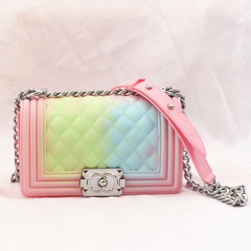 Chain Strap Pastel Pink/Blue/Green Crossbody Bag