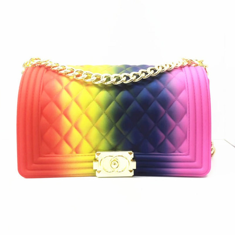 Chain Strap Red/Yellow/Blue/Pink Crossbody Bag