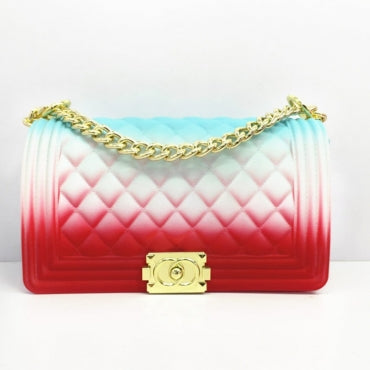 Chain Strap Red/White/Blue Crossbody Bag
