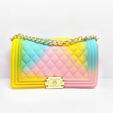 Chain Strap Yellow/Pink/Blue Crossbody Bag