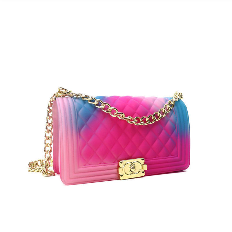 Chain Strap Pink/Purple Crossbody Bag