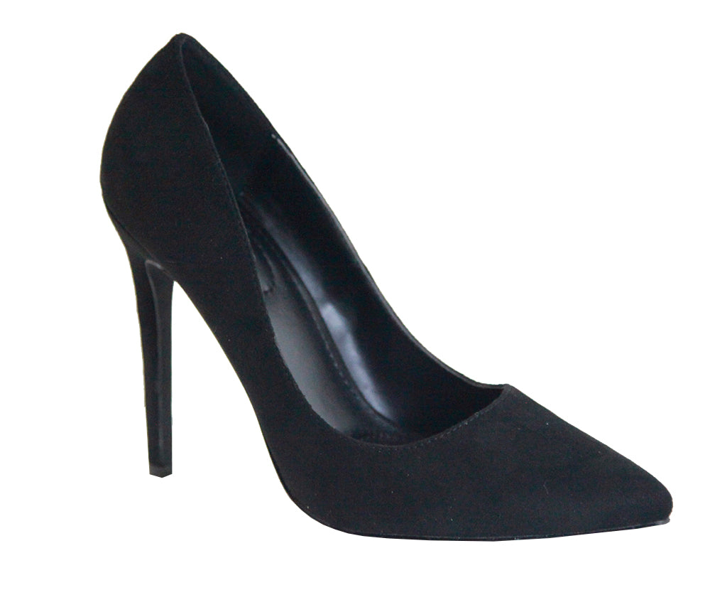 Bella Marie Malibu-1 Black Closed Pointy Toe Heels