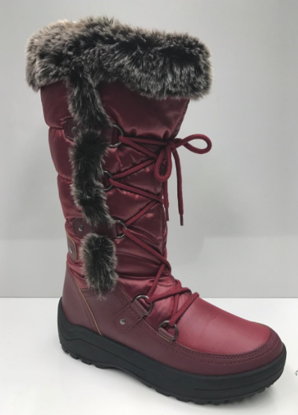 Nature Breeze Frost-01 Wine Snow Boots W/ Fur Lining