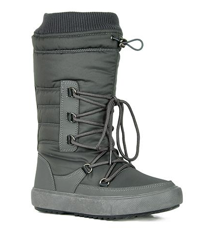 Refresh Youth-01 Grey Snow Boots W/ Sherpa Lining