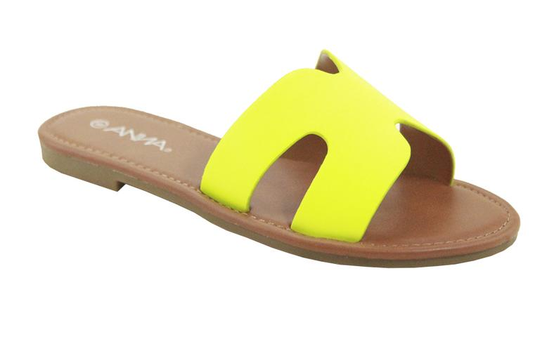 Anna Rise-1 Neon Yellow Slides