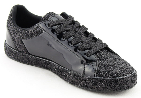 Nature Breeze Raven-01 Black Sparkly Sneaker