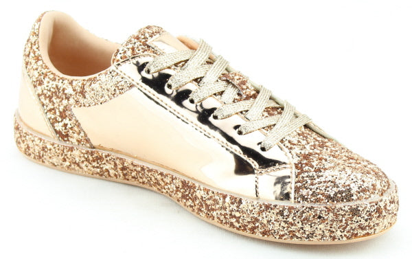 Nature Breeze Raven-01 Rose Gold Sparkly Sneaker