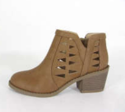 Soda Chance-11s Tan Kids Ankle Bootie