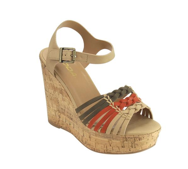 Soda Music-S Nat/Olive W/ Ankle Strap Wedge