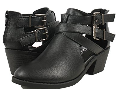 Soda Scribe-11s Black Kids Ankle Boots