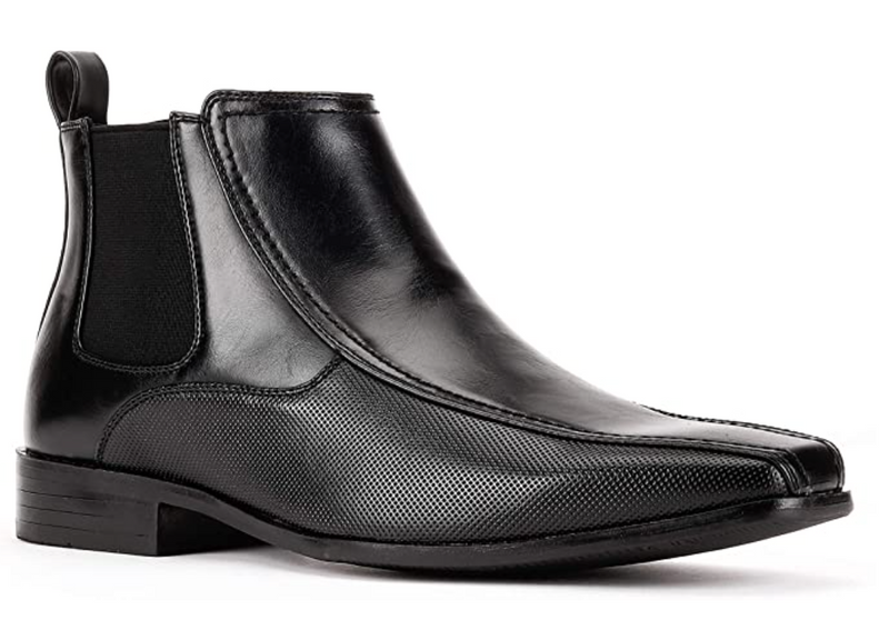 JXSN D626 Black Chelsea Ankle Boots Casual Classic