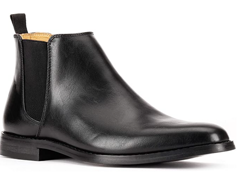 JXSN 1851 Black Men's Chelsea Ankle Boots Casual Classic