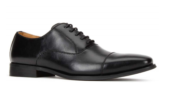 JXSN 381 Black Men's Casual Lace-up Dress Shoes
