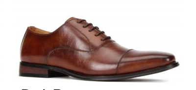 JXSN 381 Dark Brown Men's Casual Lace-up Dress Shoes