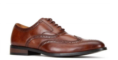 JXSN 391 Dark Brown Men's Casual Lace-up Dress Shoes