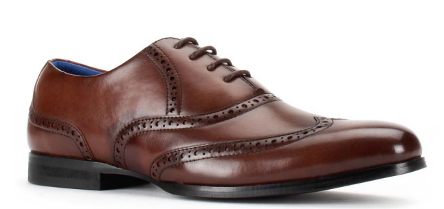 Santino Luciano Brown 451 Men's Casual Lace-up Dress Shoes