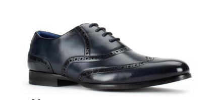 Santino Luciano Navy 451 Men's Casual Lace-up Dress Shoes