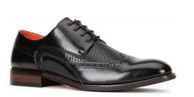 Santino Luciano Black 474 Men's Casual Lace-up Dress Shoes