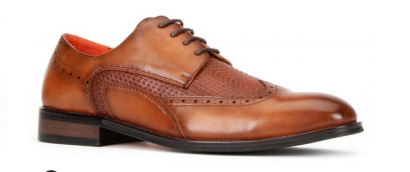 Santino Luciano Cognac 474 Men's Casual Lace-up Dress Shoes