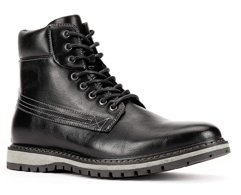 JXSN 1705 Black Men's Casual Dress Lace-up Boots