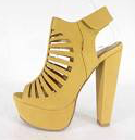 Speedlimit Manji-s Mustard Dress Heel Sandal