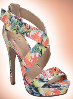 Delicious Summer Orange Multi Wrap Around Heel