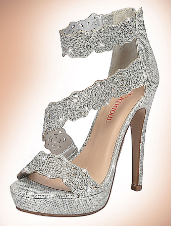 Delicious Yodel-s Silver Shimmer Heel
