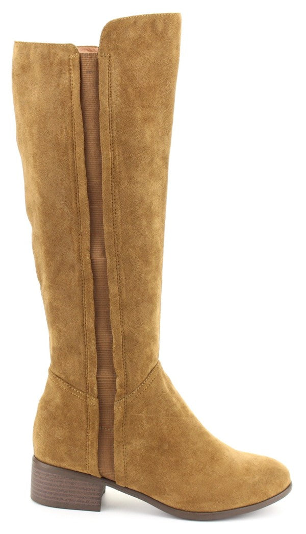 cd7f499abce Nature Breeze Trixie-01 Tan Suede Knee Boots – Manic Shoes