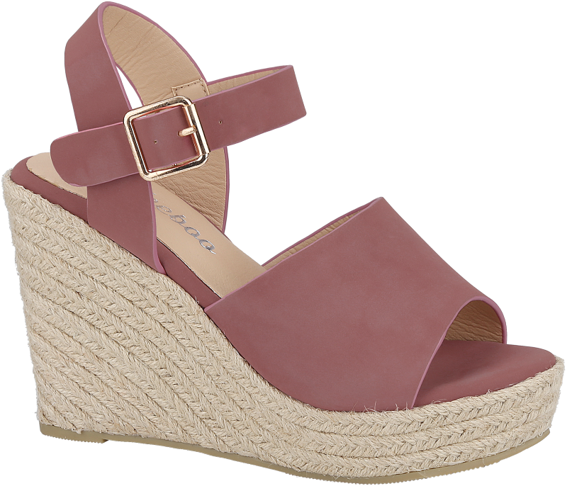 Weebo Vivian-1 Rose Wedge Sandal