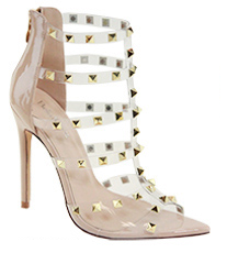 Bella Marie Liam-1 Nude Pointed Studded Heels