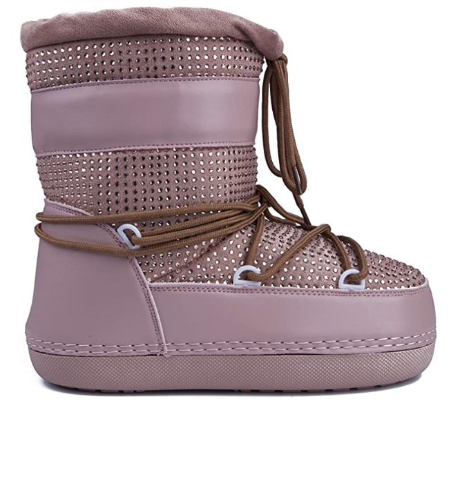 Cape Robbin Freeze Nude Lace-up Snow Moon Boots
