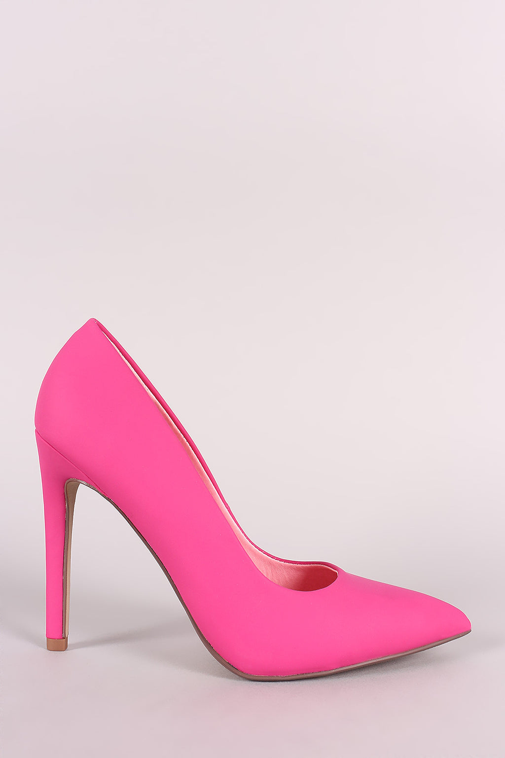 Delicious Cindy-s Hot Pink Pu Pointy Toe Stiletto Heel