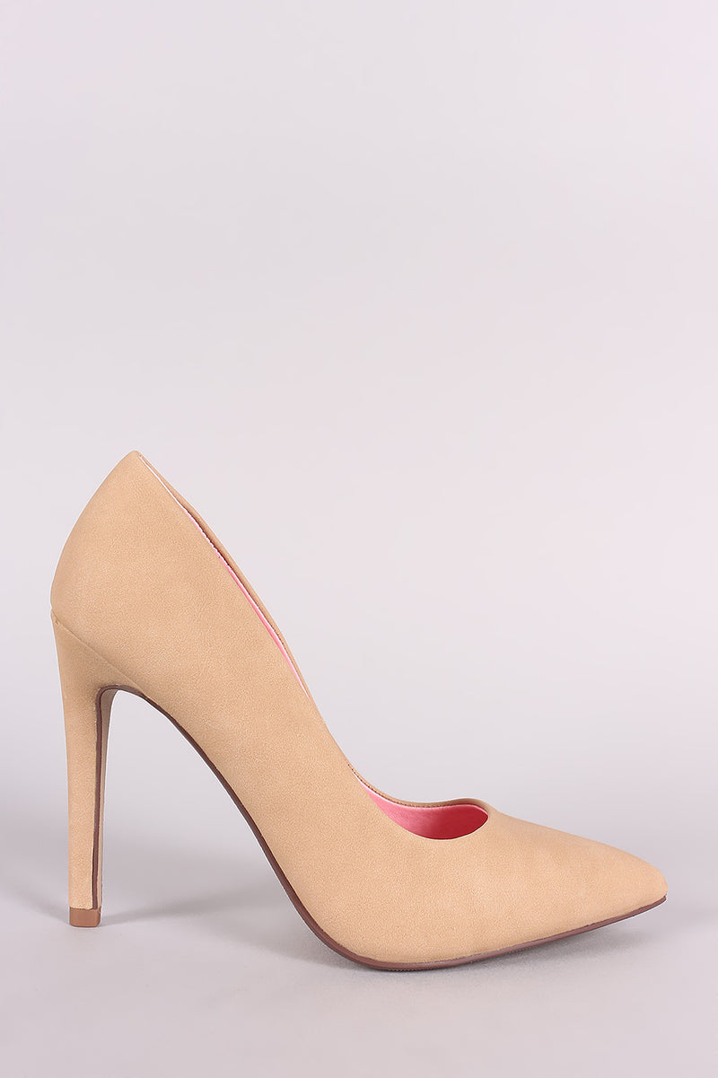 Delicious Cindy-s Nat Nub Pointy Toe Stiletto Heel